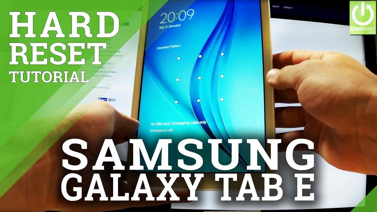How to Hard Reset SAMSUNG Galaxy Tab E - Restore Tablet by Recovery Mode
