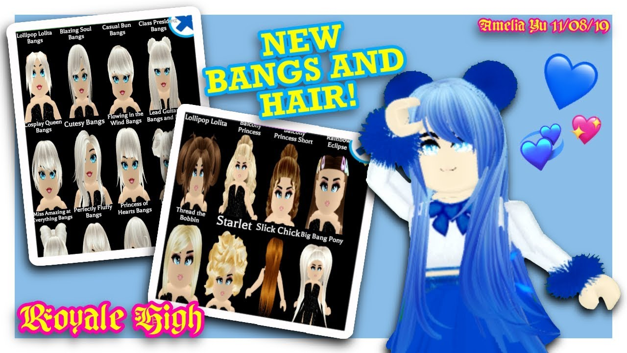 New Hair Styles And Bangs Roblox Royale High Update Youtube