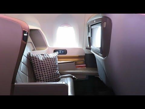 Singapore Airlines A350 Business Class Düsseldorf to Singapore: private flight!