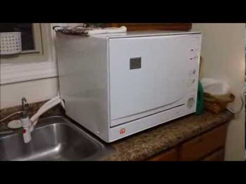 Countertop Dishwasher Hookup : Countertop Igloo Dishwasher - YouTube