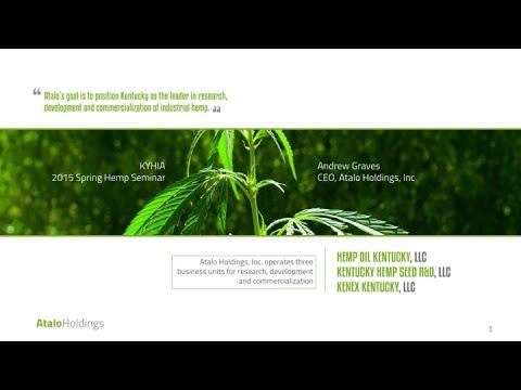 Andy Graves introduces Atalo Holdings, a new hemp company