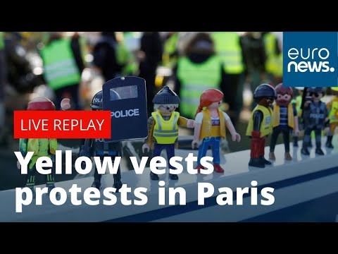 """Protests in Paris to mark one year since """"yellow vests"""" began"""