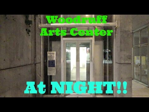 Riding the Famous Roped Hydraulic Elevator at Night! - Woodruff Arts Center - Atlanta, GA