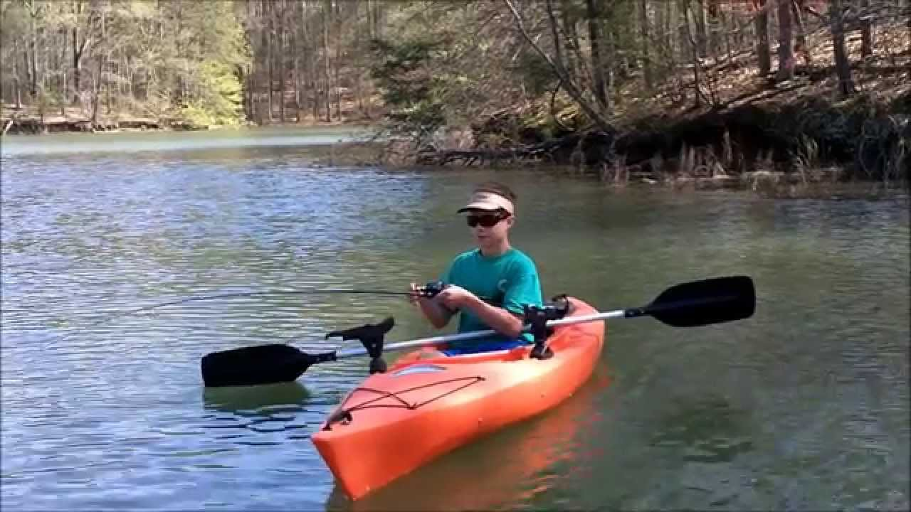 Lake lanier kayak fishing for spots youtube for Lake lanier fishing spots