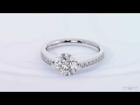 ETERNAL SOUL WHITE GOLD CHANNEL SETTING SIDE STONE DIAMOND ENGAGEMENT RINGS - CAPE DIAMONDS