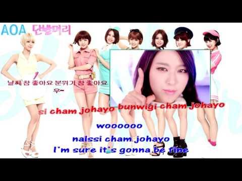 AOA 단발머리 Short Hair official instrumental karaoke
