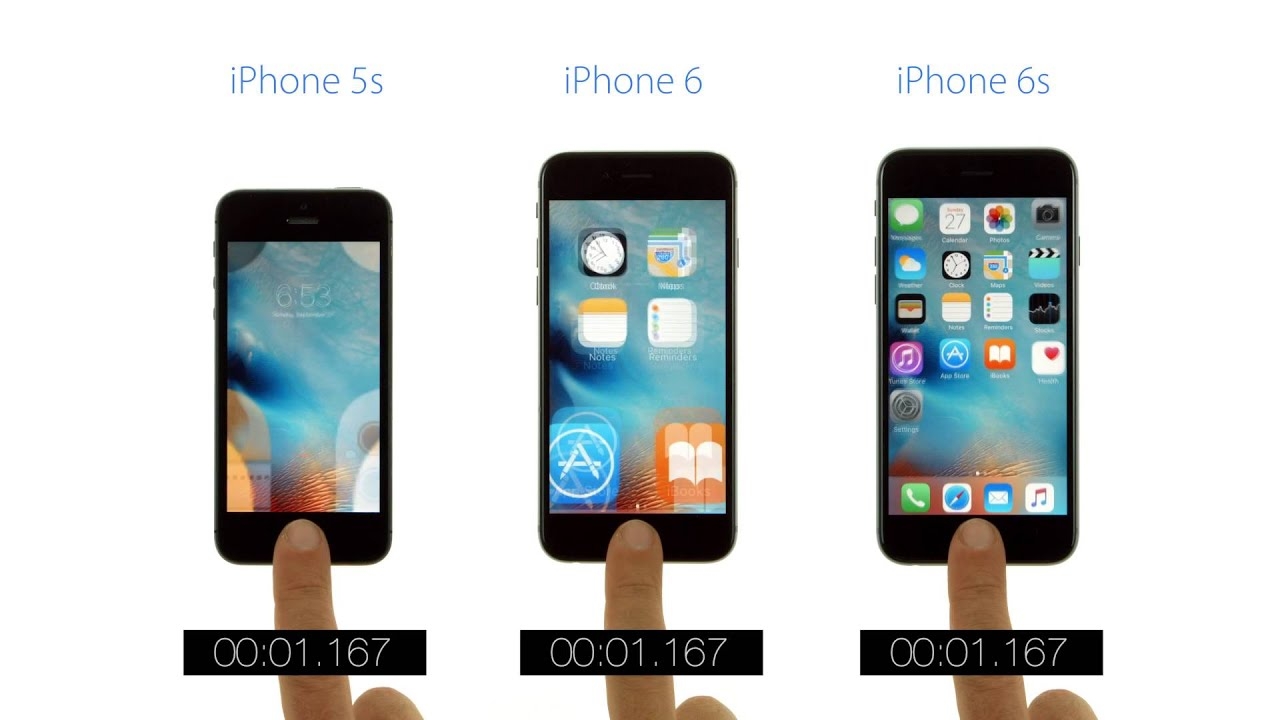 iphone 6 v s iphone 5s touch id speed test iphone 6s vs iphone 6 vs iphone 5s 19339
