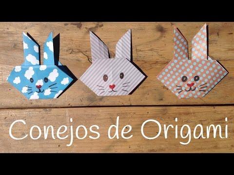 Conejo de origami facil de hacer