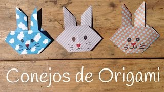 CONEJO de origami fácil para niños | Manualidades de ANIMALES fáciles