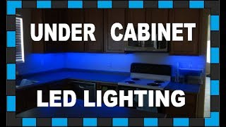 How To Install Under Cabinet LED Lighting!!! // Under $30