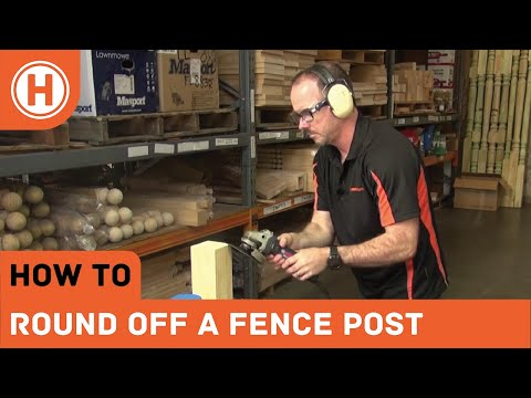 How To: Round Off The Top Of A Fence Post Before Adding A Turned Capital
