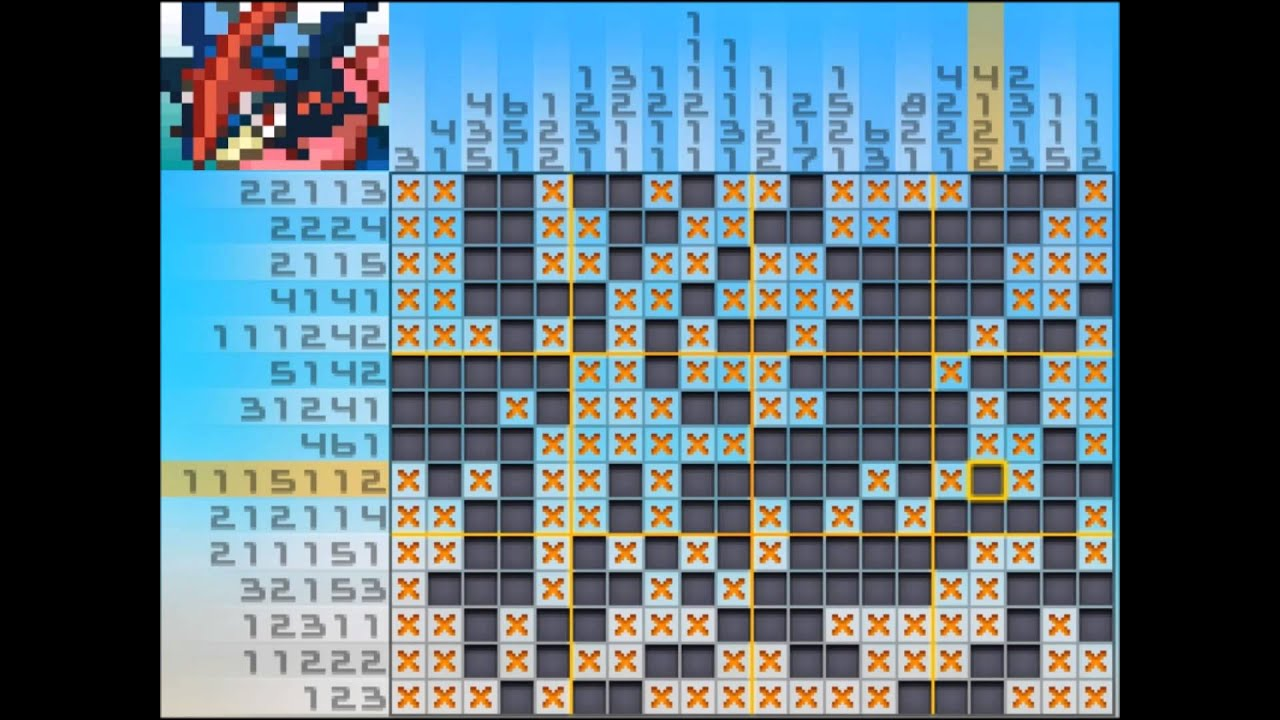 Pok mon picross legendary and more youtube for Mural 01 pokemon picross