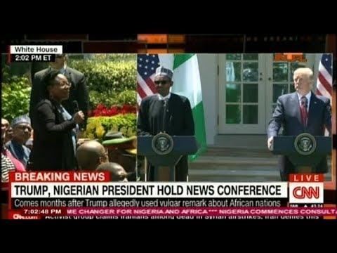 President Muhammadu Buhari and President Donald Trump  joint press at the Whitehouse