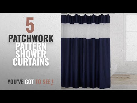 Top 10 Patchwork Pattern Shower Curtains [2018]: Eforcurtain Creative Patchwork Pattern Cloth Shower