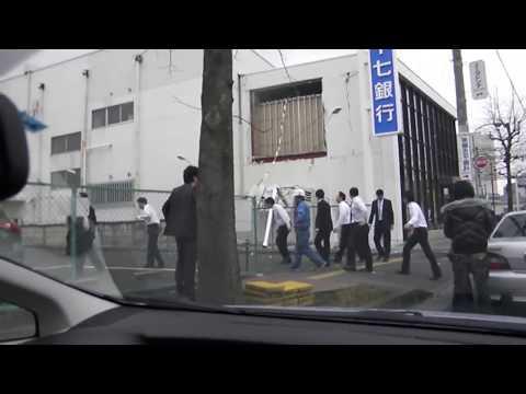 仙台市泉区 震災その時 車内から撮影  The Great East Japan Earthquake