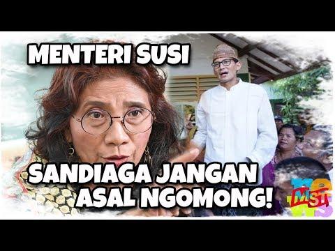 Disemprot Menteri Susi, Ketahuan Sandiaga Sebar Info Tanpa Ngecek, Mau Ulangi Kasus Ratna??