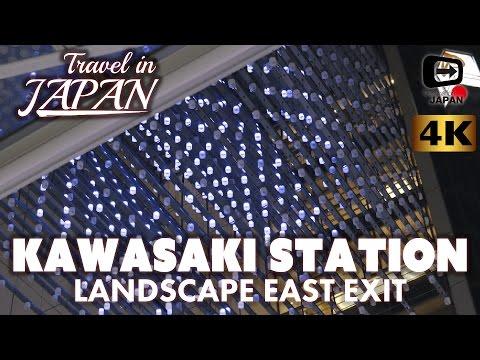 4K Travel in Japan | Kawasaki Station East Exit | Landscape at 19:00 | 川崎駅