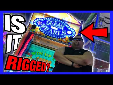 GIVEAWAY! IS IT RIGGED #1? OCEAN PEARLS ARCADE GAME 100% SKILL JACKPOT TICKET WIN? (Funplex Wins)