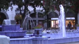 Subotica-Town Hall & Blue Fountain