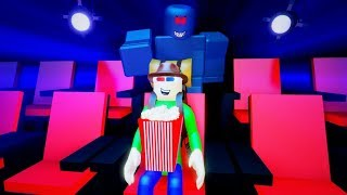 CINEMA FIELD TRIP WITH BALDI AND HIS FRIENDS!! | Roblox Camping: Cinema