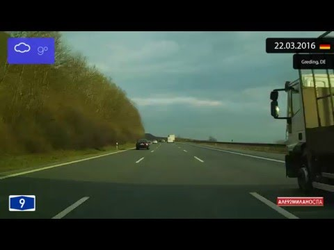Driving through Bayern (Germany) from Nürnberg to München 22.03.2016 Timelapse x4