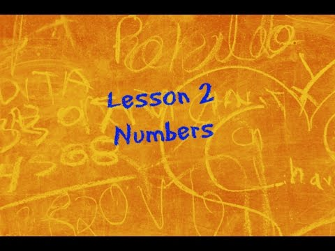 Let's Learn BSL! Lesson 2 - Numbers