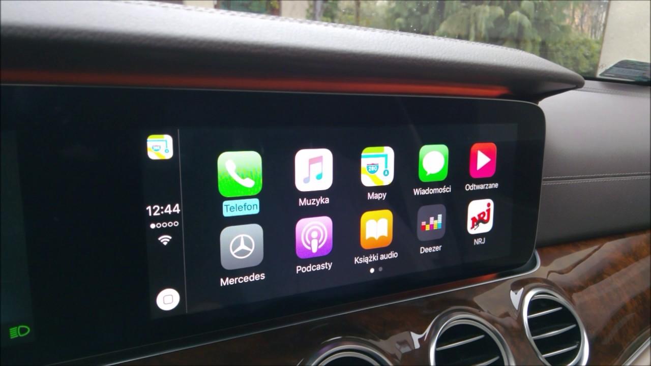 apple carplay mercedes klasy e 2016 w213 youtube. Black Bedroom Furniture Sets. Home Design Ideas