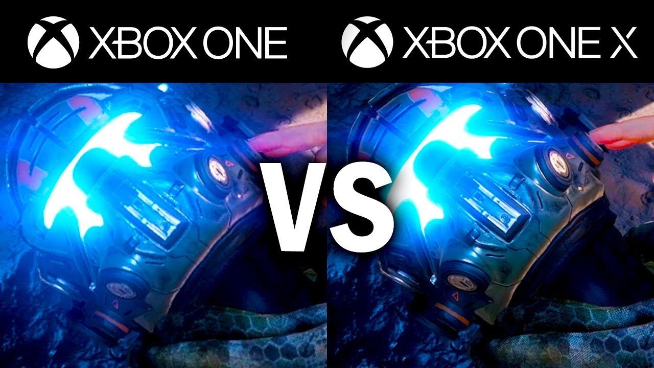 xbox one x vs xbox one s comparison 1080p comparison youtube