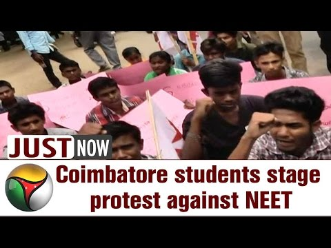 Live: Coimbatore students stage protest against NEET, get arrested