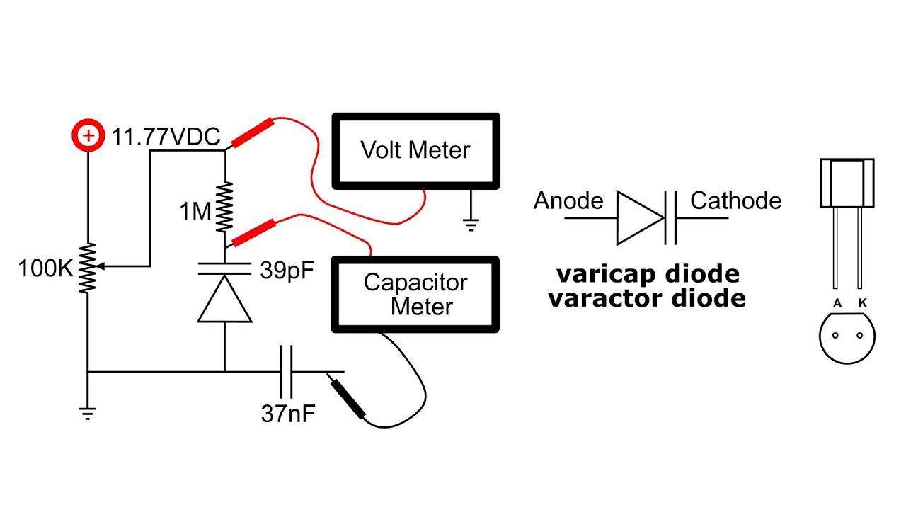 varicap varactor diode circuit demo [ 1280 x 720 Pixel ]