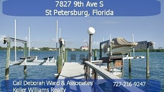 Waterfront Pool Home For Sale In Yacht Club Estates - 7827 9th Ave, St Petersburg, Fl 33707