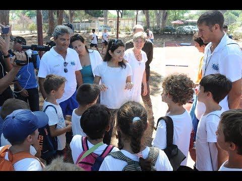 Virginia Raggi visita l'EduCamp di Ostia: lo sport è di tutti e per tutti.