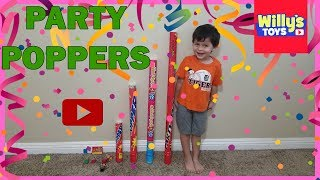 GIANT PARTY POPPERS FIREWORKS With Tons of Confetti - Willy's Toys