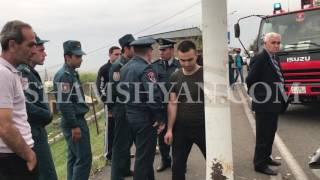 Ավտովթար Երևանում  66 ամյա վարորդը Թբիլիսյան խճուղում Mitsubishi Pajero IO ով բախվել է էլեկտրասյանը