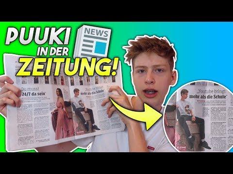 """Puuki in der ZEITUNG! """"Youtuber & Schulabbrecher"""""""