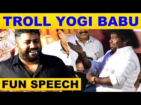 K.E. Gnanavel Raja TROLLS Yogi babu on Stage | Dharma Prabhu Audio Launch | kalakkal