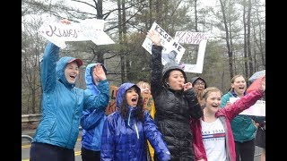 Boston Marathon 2018: Drenched fans go wild at the Wellesley College Scream Tunnel