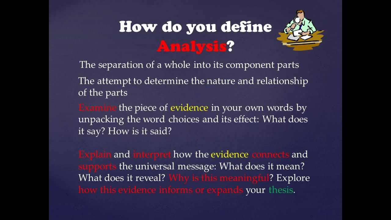 Use Evidence And Analysis To Support A Thesis  Youtube