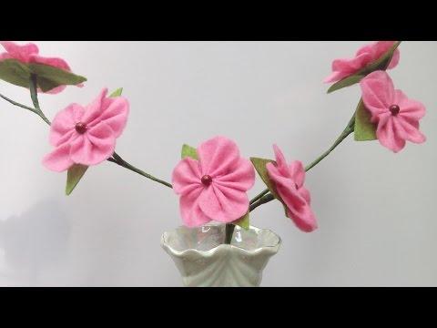 diy-flowers-for-vase-|-felt-blooming-branches-|-handiworks-#50