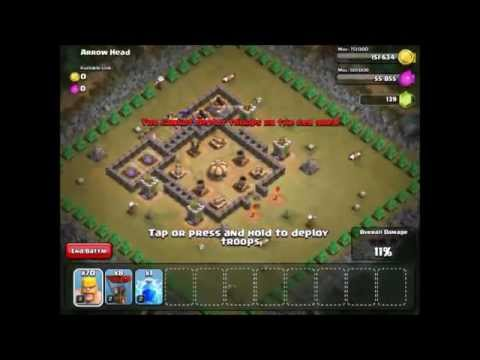 Clash of Clans Level 28 - Arrow Head - Town Hall 5