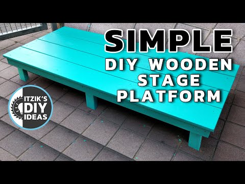 How To Build A Simple Wooden Stage Platform For Kids DIY