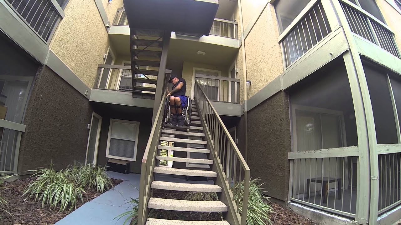 Wheelchair Up Stairs Levon Showood Accent Chair How To Climb A Set Of On Your Youtube