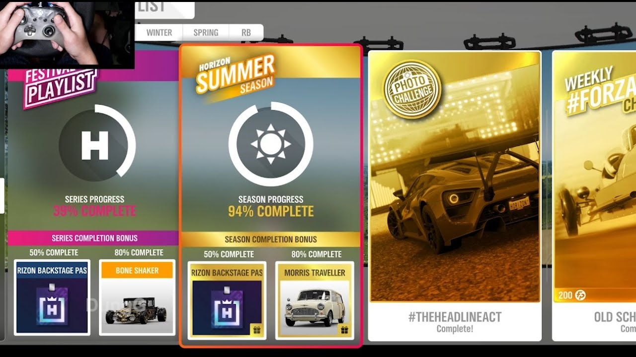 Download Forza Horizon 4 - How to Complete Festival Playlist Summer season Update 38 - 50, 80 Percent