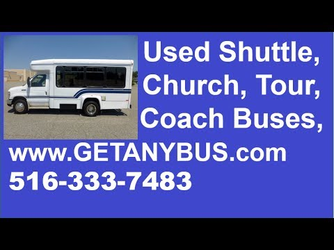 Used Shuttle Buses For Sale In TX by NY Dealership | Call 844-612-7122 |  2009 Ford E350 Shuttle Bus