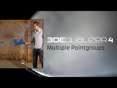 3DEqualizer4 [basic] - Multiple Pointgroups