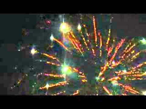 Fireworks at Ridgefield High School 2013 (sky view)