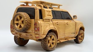 Wood Carving - Special Built 2021 Land Rover Defender 110 X - Woodworking Art