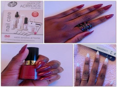 Itsroi How To Diy Rihanna Stiletto Nails Using Rio Quick Dip Acrylic Kit