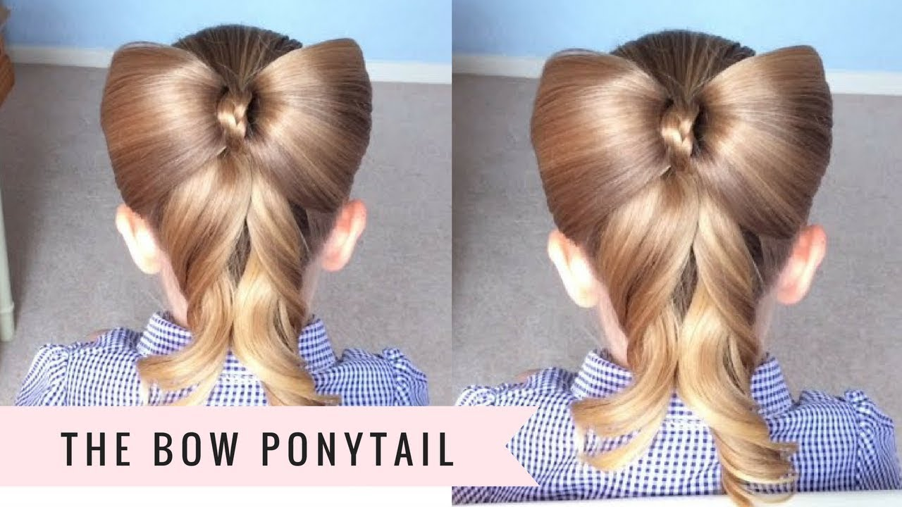 Bow Ponytail By Sweethearts Hair Youtube
