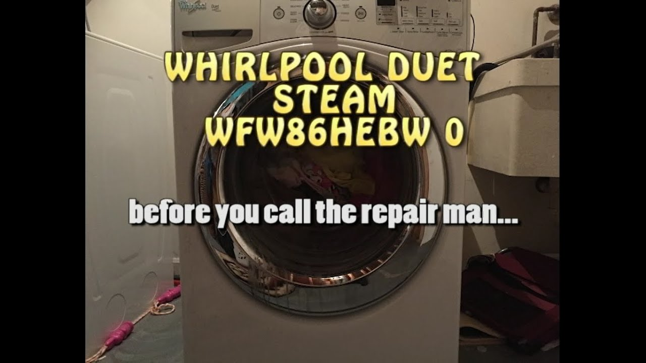 whirlpool duet steam washing machine is stinky/smelly or isn't, Badkamer